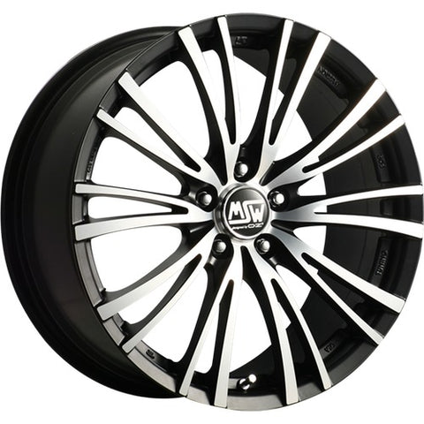 MSW 20-5 MATT BLACK FULL POLISHED 16x7.0  ET48  5x112 CERTIFICATI  NAD