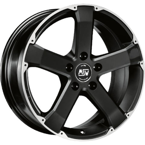 MSW 45 MATT BLACK FULL POLISHED 17x8.0  ET45  5x112 CERTIFICATI  NAD