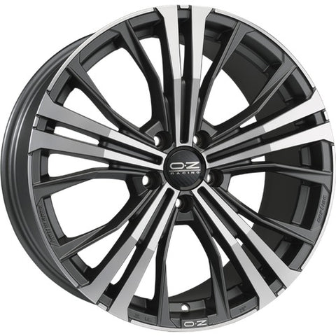 OZ CORTINA MATT DARK GRAPHITE DIAMOND CUT 19x9.0  ET45  5x112 CERTIFICATI  NAD