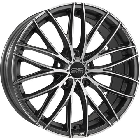 OZ ITALIA 150 MATT DARK GRAPHITE DIAMOND CUT 19x8.0  ET38  5x110 CERTIFICATI  NAD
