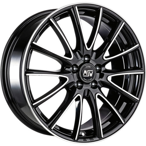 MSW 86 BLACK FULL POLISHED (GBFP) 15x6.0  ET22  4x108 CERTIFICATI  NAD