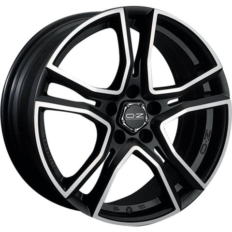 OZ ADRENALINA MATT BLACK DIAMOND CUT 18x8.0  ET48  5x112 CERTIFICATI  NAD