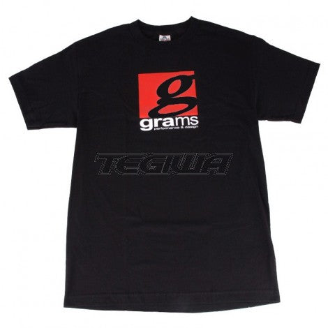 GRAMS PERFORMANCE & DESIGN LOGO TEE BLACK - M
