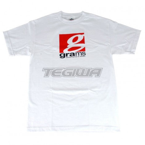 GRAMS PERFORMANCE & DESIGN LOGO TEE WHITE - M