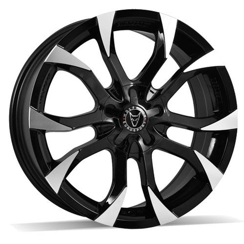 Wolfrace Eurosport Assassin 20 x 8.5 ET 35 5x98  Gloss Black / Polished