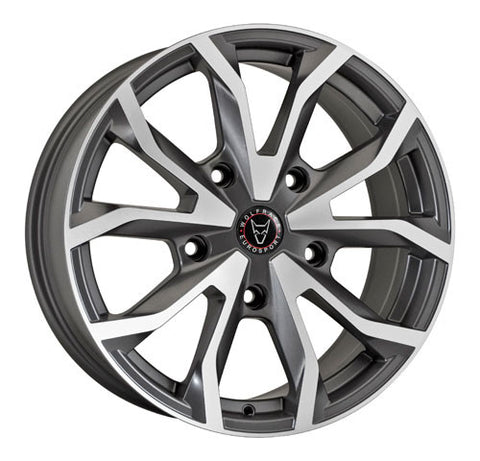 Wolfrace Eurosport Assassin TRS 18 x 8 ET 50 5x160  Satin Grey / Polished