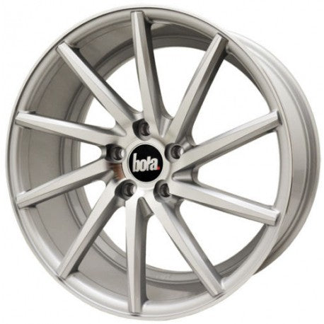 BOLA ZZR 19X8.5 ET 25-45 GLOSS SILVER POLISHED FACE