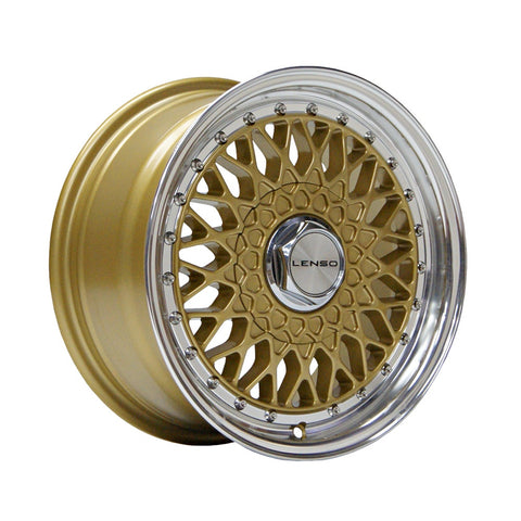LENSO BSX 15x7 ET38 GOLD  MIRROR LIP