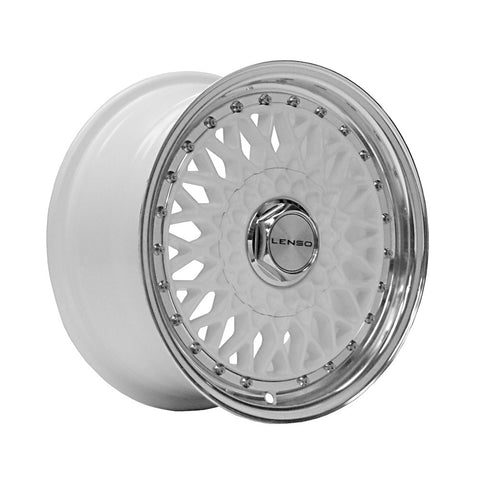 LENSO BSX 15x7 ET30 WHITE  MIRROR LIP