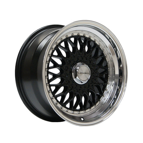 LENSO BSX 17x8,5 ET15  GLOSS BLACK / MIRROR LIP