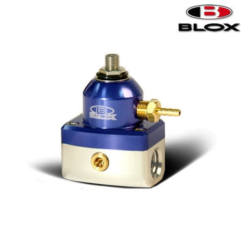 BLOX Racing 2-Port Competition Regolatore Pressione Benzina Blue/Silver (Universal)