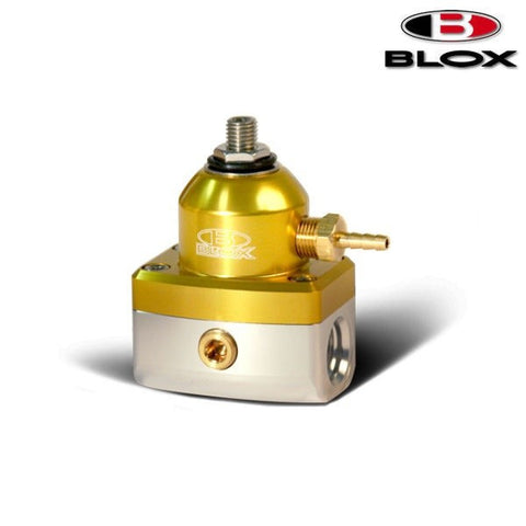 BLOX Racing 2-Port Competition Regolatore Pressione Benzina Gold/Silver (Universal)