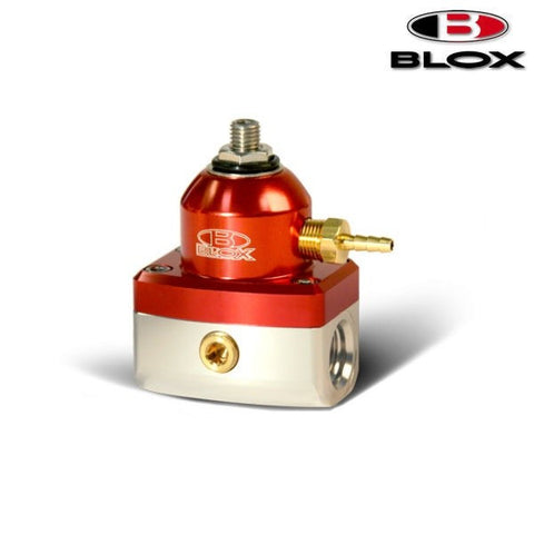 BLOX Racing 2-Port Competition Regolatore Pressione Benzina Red/Silver (Universal)