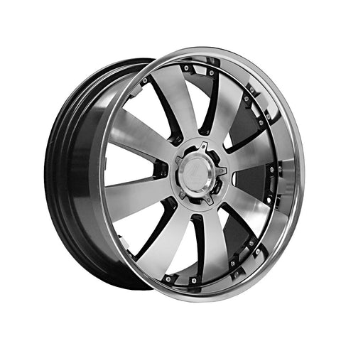 LENSO CONCERTO 18x8.5 ET15 GLOSS BLACK POLISHED FACE&LIP