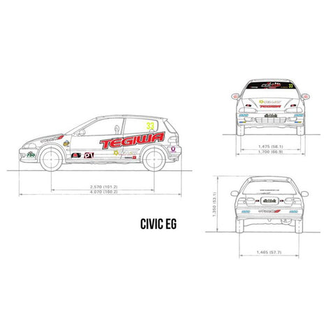OFFICIAL 2015 TEGIWA CIVIC CUP STICKER/DECAL PACK