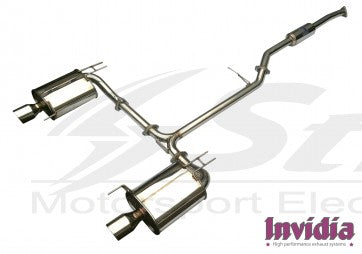 Honda Accord 03/07 2.4L 4dr exhaust Cat-back (scarico centrale + Terminale) Q300 *