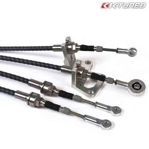 K-Tuned Race-Spec Shifter Cables & Bracket (Civic/CRX 87-01/Del Sol/Integra 90-01 /w H22-Swap)