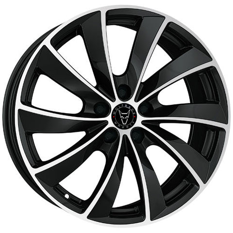 Wolfrace GB Lugano 19 x 8.5 ET 32 5x112  Gloss Black / Polished