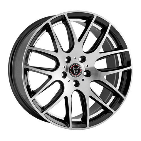 Wolfrace Eurosport Munich 20 x 8.5 ET 35 5x120  Satin Black / Polished Face and Undercut