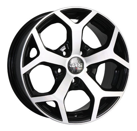 CARRE Mustang 15 x 6.5 ET 38 4x108  Gloss Black / Polished