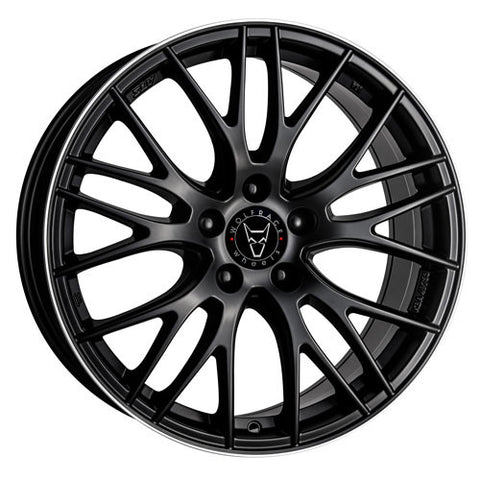 Wolfrace GB Perfektion 19 x 9.5 ET 35 5x112  Gloss Black / Polished
