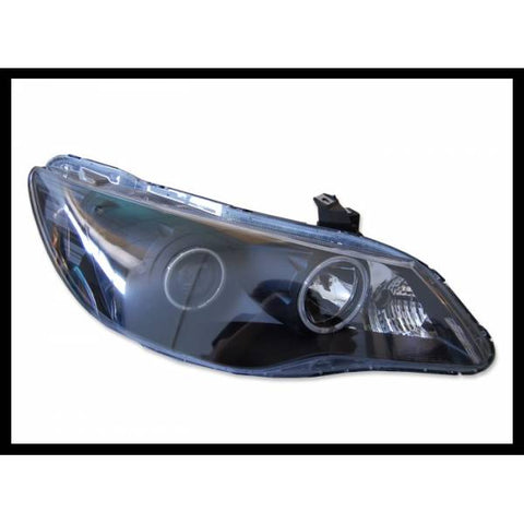 Fari Fanali Anteriori Angel Eyes Honda Civic EP 06, 4 Porte, Black Nero