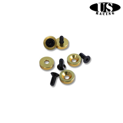 US-Racing Viteria in Ergal Fender Washers M6x20 Gold (Universal)