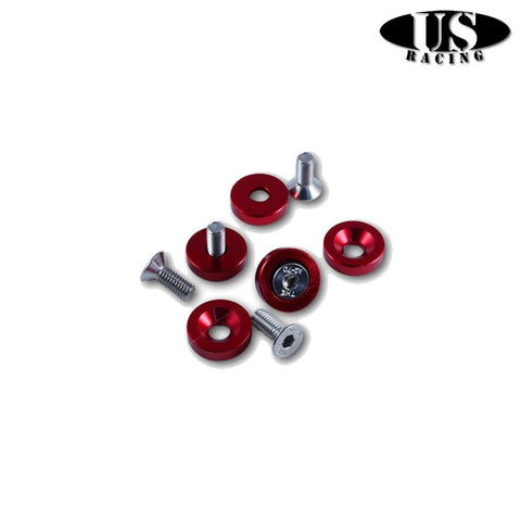 US-Racing Viteria in Ergal Fender Washers M6x20 Red (Universal)