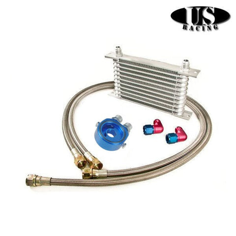 US-Racing British Oil Cooler 11 Rows Kit (Universal)
