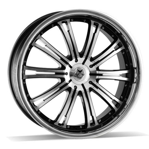 Wolf Design Vermont 22 x 9.5 ET 25 5x115  Gloss Black / Polished / Polished Lip