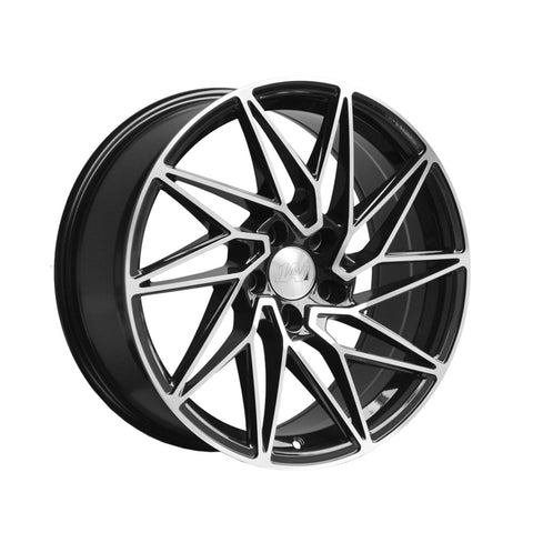 1AV ZX10 18x8 ET40 BLACK/POLISHED FACE