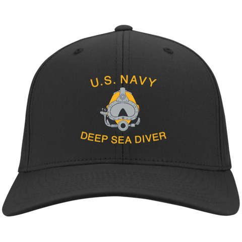U.S. Navy Deep Sea Diver Flex Fit Twill Baseball Cap