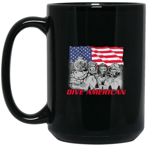 Dive American 15 oz. Black Mug