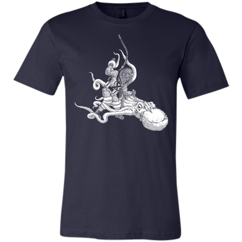 Octopus VS. Diver (Art by: Brian Callis) Unisex Jersey T-Shirt