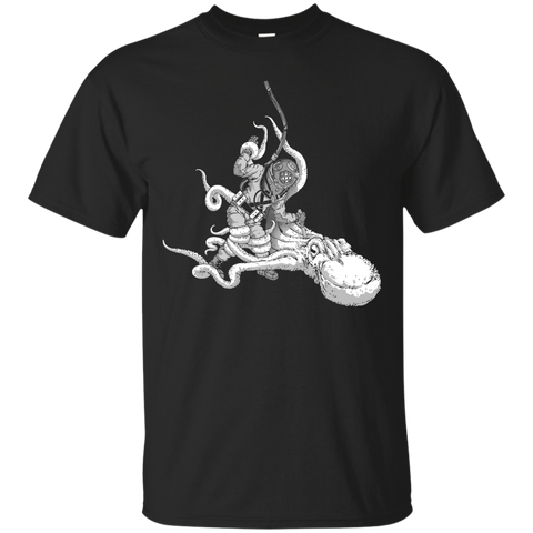 Octopus VS. Diver (Art by: Brian Callis) T-Shirt