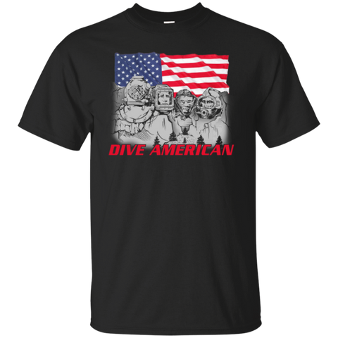 Dive American (Front) Gildan Cotton T-Shirt