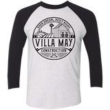 Villa May Next Level Tri-Blend 3/4 Sleeve Baseball Raglan T-Shirt