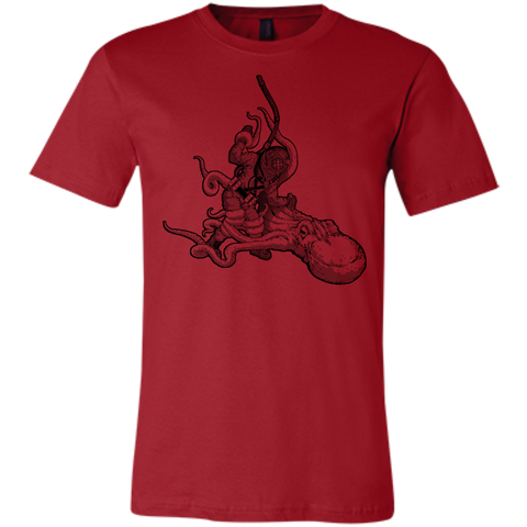 Octopus VS. Diver (Art By: Brian Callis) Unisex Jersey Cotton T-Shirt