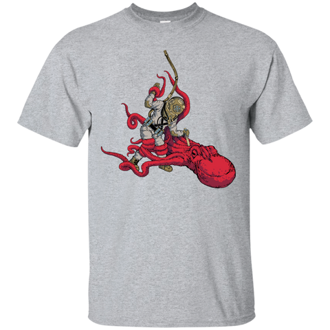 Octopus VS. Diver (Color) (Art by: Brian Callis) T-Shirt