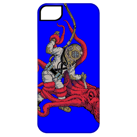 Octopus VS. Diver (By: Brian Callis) Phone Cases