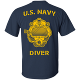 U.S. Navy Diver (Back Only) Gildan Cotton T-Shirt