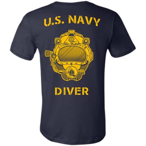 U.S. Navy Diver (Back Only) Unisex Jersey Cotton T-Shirt