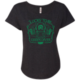 Lucky To Be Green Diver Ladies Triblend Dolman Sleeve