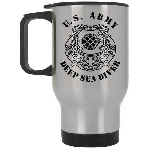 Army Diver Silver Stainless Travel Mug