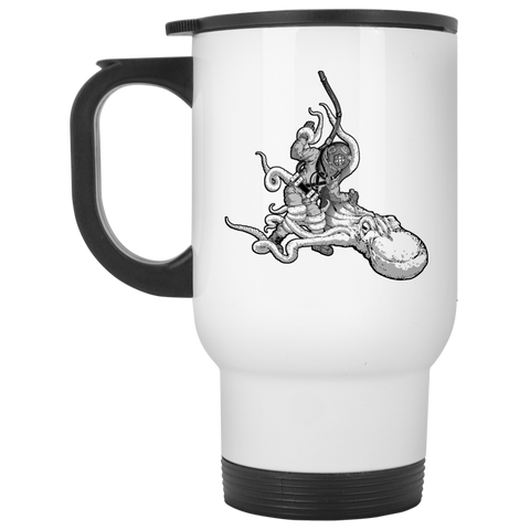 Octopus VS. Diver Travel Mug