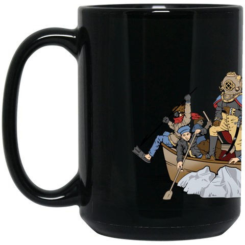 Deepsea Crossing Delaware (Wrap Around Art) 15 oz. Black Mug