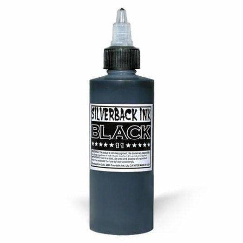 Silverback Black 11 - 4Oz - Tattoo Ink - Mithra Mfg Inc.