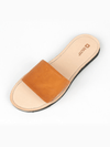 Cognac Slides - Ethical Shoes - deux mains