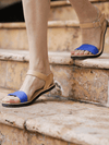Caribbean Blue Sandals - Ethical Shoes - deux mains