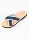 Blue Denim Sandals - Ethical Shoes - deux mains